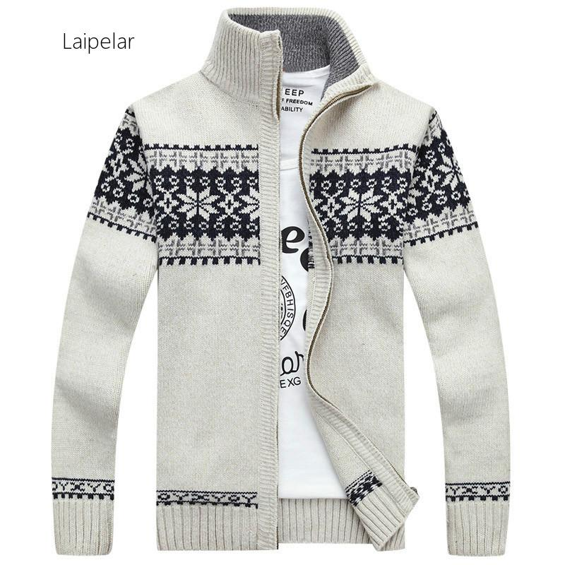 Laipelar Men's Cardigans Sweaters New Autumn Winter Mandarin Collar Casual Clothes For Men Zipper Sweater Warm Knitwear Sweater