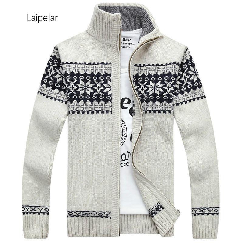 Laipelar Men's Cardigans Sweaters New Autumn Winter Mandarin Collar Casual Clothes For Men Zipper Sweater Warm Knitwear Sweater