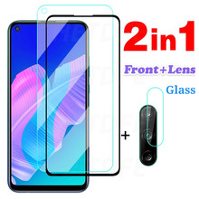 2 In 1 Beschermende Glas Voor Huawei Y9A Y9S Y7A Y7P Y7S Camera Lens Glas Screen Protector Voor Huawei Y8P y8S Y6P Y6S Y5P Glas
