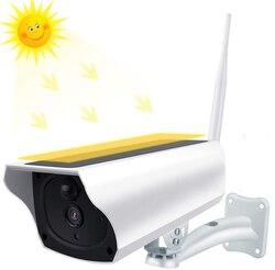 Câmera solar 1080p wifi câmera de segurança sem fio alimentado por bateria câmera ip ao ar livre à prova dtwo água áudio em dois sentidos pir detecção movimento