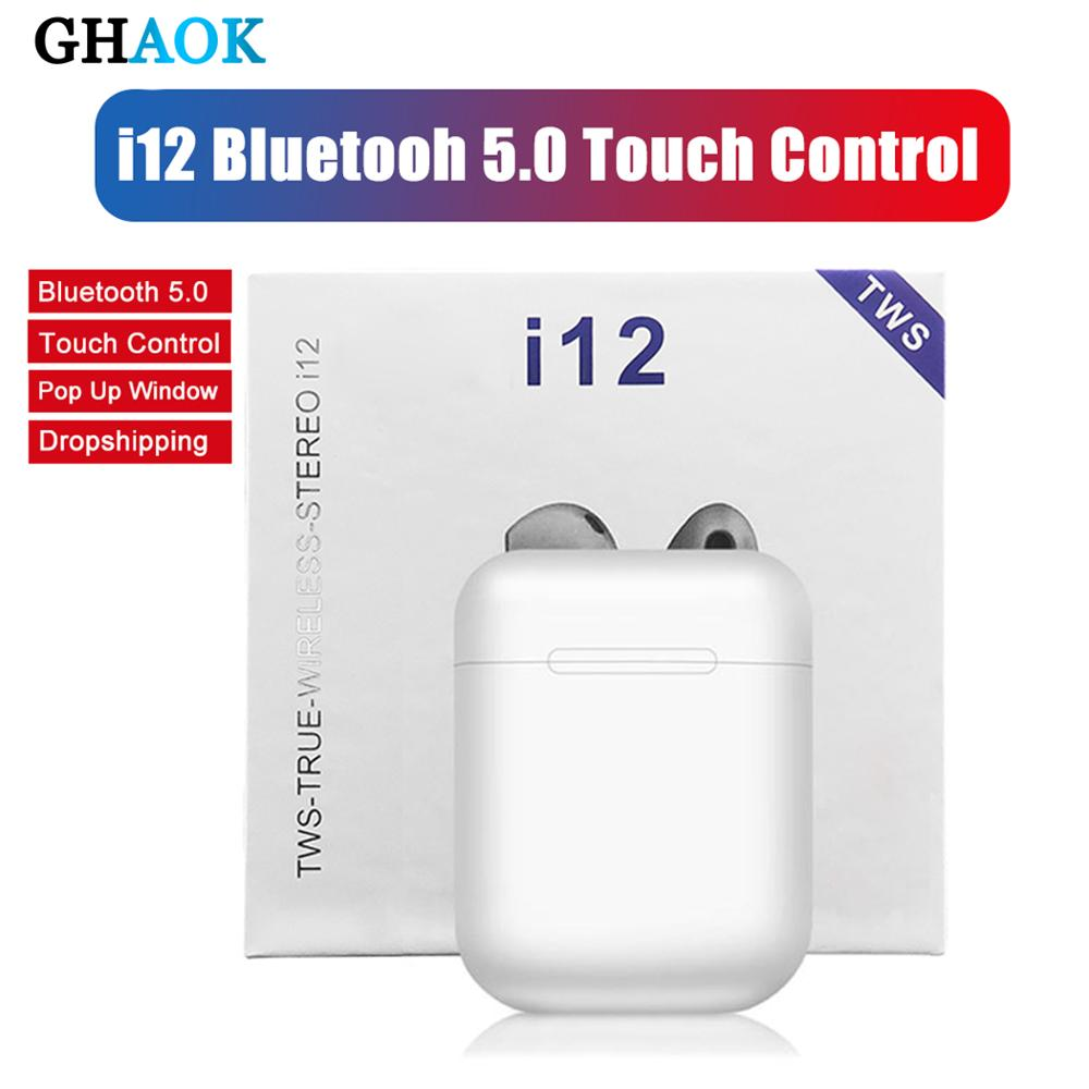 Original I12 TWS 2019 Wireless Earphones MIni Earbuds Bluetooth 5.0 For IPhone Samsung Xiaomi Not I7s I9s I11 I20 I30