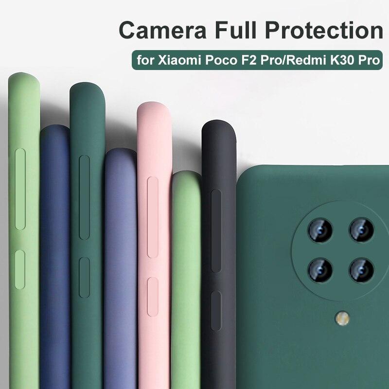 for Xiaomi Poco F2 Pro Case Redmi K30 Pro Case Luxury Full Body Protection Liquid Silicone Cover Camera Protector