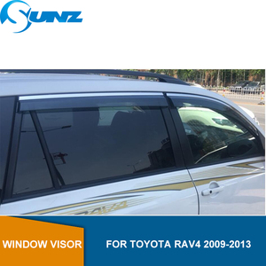 Image 1 - צד חלון deflectors עבור טויוטה RAV4 2009 2010 2011 2012 2013 משמרות גשם שמש צל סוככים מקלטי משמרות SUNZ