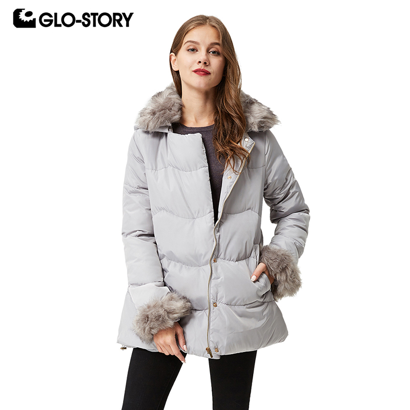 US $71.4 40% OFF|GLO STORY Frauen Winter Jacke Mantel Casual 2019 Frauen Parkas Kleiden Hohe Qualität Weibliche Mit Kapuze Winter Parka Mäntel WMA