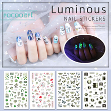 Nail-Art-Stickers Luminous-Decorations Glow-In-The-Dark Adhesive Butterfly-Design Lovers