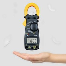 Medidor de braçadeira digital ac atual multímetro dc/ac tensão amperímetro tensão tester amp hz capacitância ohm teste dt3266l