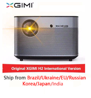 Xgimi h2 1920*1080 dlp completo projetor hd 1350 ansi lumens 3d projetor suporte 4 k android wifi bluetooth beamer 300 inch projector 3d projectordlp full hd -