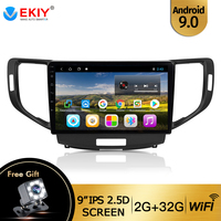 EKIY 10.1 Android 9.0 Car Radio For Honda Accord 8 2008 2012 Car Multimedia Video Player Navigation GPS Android 8.1 No 2din Dvd