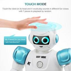Rc robô de controle remoto inteligente ação caminhada cantar dança figura ação gesto sensor brinquedos presente para as crianças