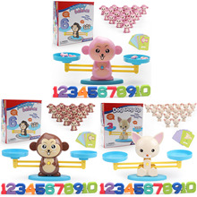 60pcs Learn Balance Math Game Number Learning Material Early Development Educational Counting Toys for Kids Preschool Math Toys monkey number balance math toys match balancing scale game board game educational toy for child to learn add and subtract
