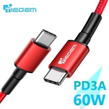 TIEGEM USB C sang USB C Sạc Nhanh Quick Charge 4.0 3.0 USB C Dây Cáp dành cho Samsung Galaxy Note 10 s9 PD 60W 3A cho Macbook