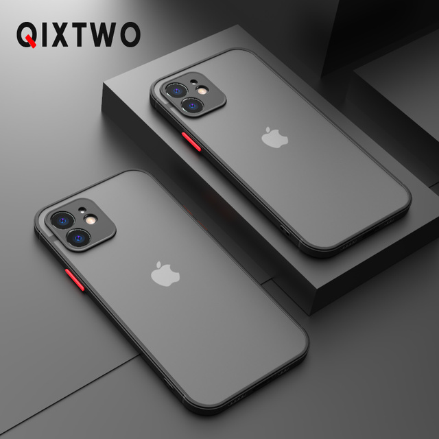 Luxury Silicone Shockproof Matte Phone Case For iPhone 11 12 Pro Max Mini X XS XR 7 8 Plus SE 2020 Ultra Thin Transparent Cover 1