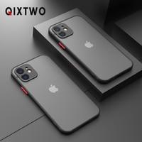 Funda de teléfono de silicona a prueba de golpes para iPhone, carcasa transparente ultrafina a prueba de golpes para iPhone 11 12 Pro Max Mini X XS XR 7 8 Plus SE 2020