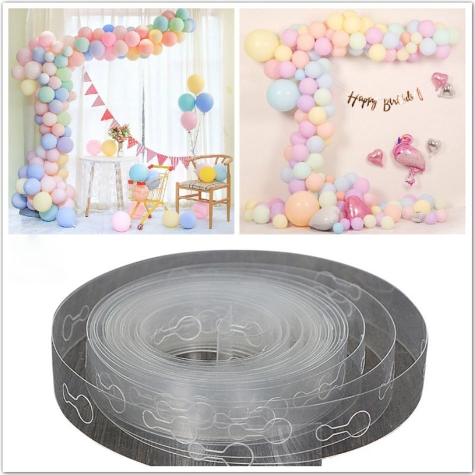 Balloons Accessories 5M Balloons Chain Clips <font><b>Happy</b></font> <font><b>Birthday</b></font> Party Decorations DIY Balloon Glue Wedding Home New Year Backdrop image
