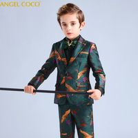 Kids Party Wear Boys Formal Suit for Wedding Party 2019 Toddler Boy Blazer Suit Student School Ceremony Costumes Terno Infantil