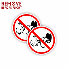 1 Pair BAG LICKERS NO Personality Funny Car Sticker Character PVC Decal Printed