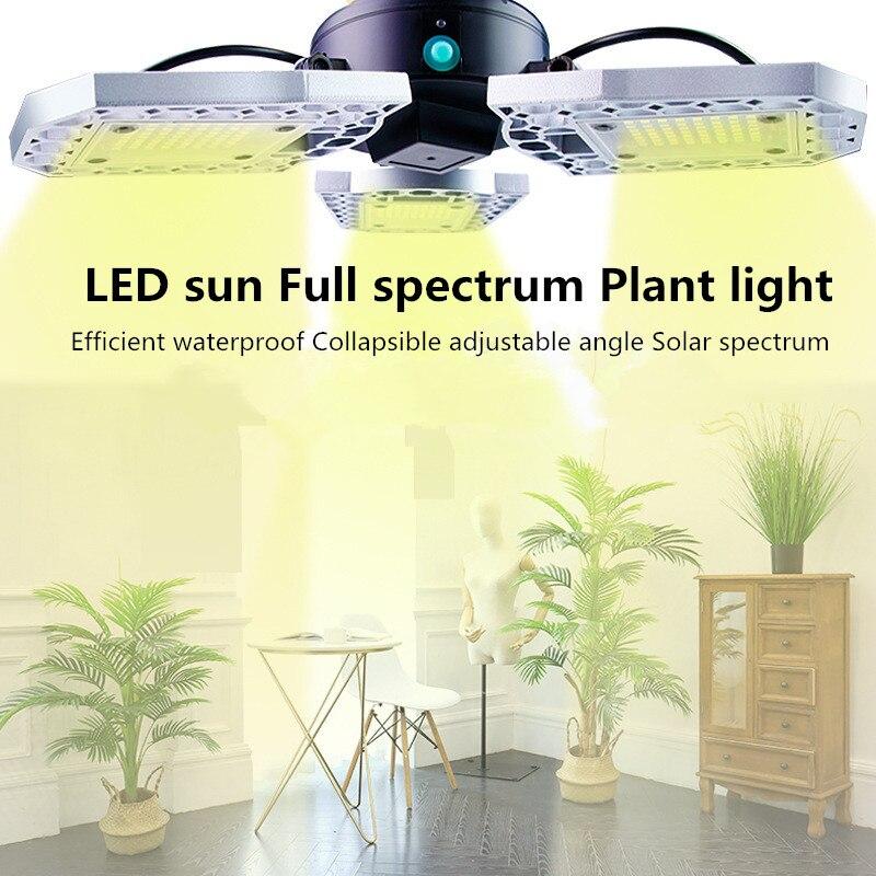 LED Phyto Lamp E27 60W 80W Full Spectrum LED Grow Light  Horticole For Indoor Seedlings Flower Grow Tent Box Collapsible  220V