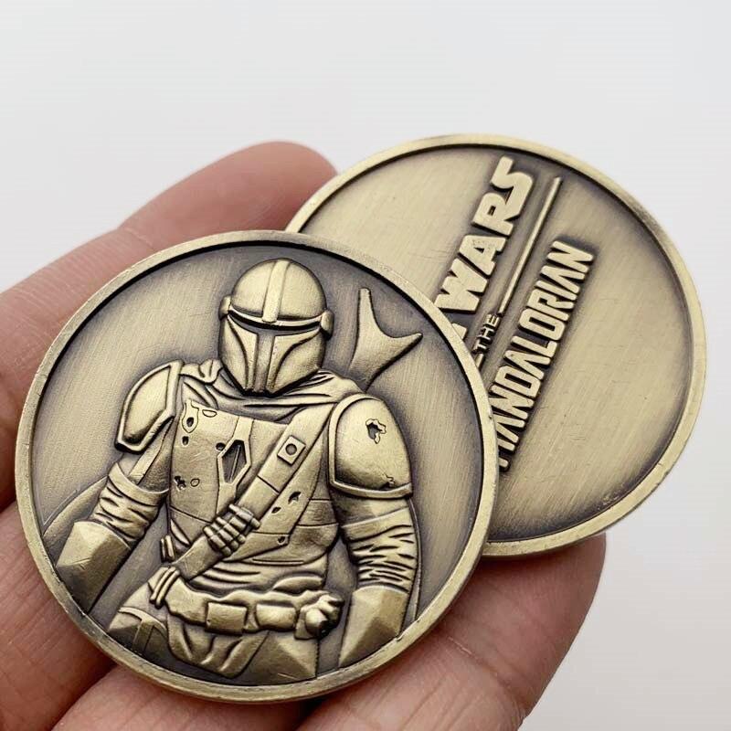 40 мм Монеты Звездные войны Железный человек Человек-паук Тор коллекция монеты аксессуары для украшения дома памятные монеты старые металли...