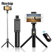 Rovtop Bluetooth Selfie Stick statyw zdalnego sterowania Monopod dla iPhone Mini statyw do telefonu Samsung Huawei Gopro