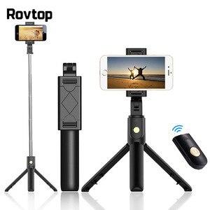 Image 1 - Rovtop Bluetooth селфи палка, штатив с дистанционным управлением, монопод для iPhone, мини Трипод, крепление для телефона, для Samsung, Huawei, Gopro
