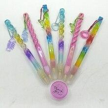 Kit de herramientas de mosaico de punto de cruz con pintura de diamante, nuevo lápiz colorido, bolígrafo oceánico con cadena, accesorios de bordado, cera
