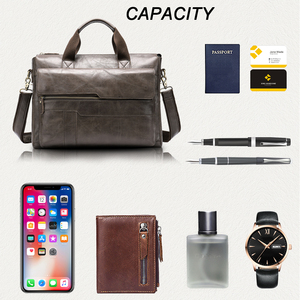 Image 4 - MVA mens briefcase Genuine Leather laptop bag mens leather bag office bags for men laptop briefcase lawyer men bags 8615