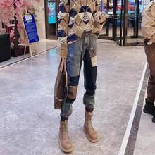 Новые джинсы большого размера с завышенной талией и цветными