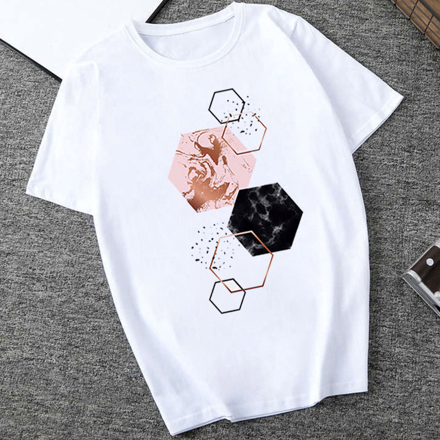 ERNESTNM High Quality Harajuku Style Women Casual T-shirt Top Breathable Short Sleeve Ladies Clothes Large Size Ladies T-shirt