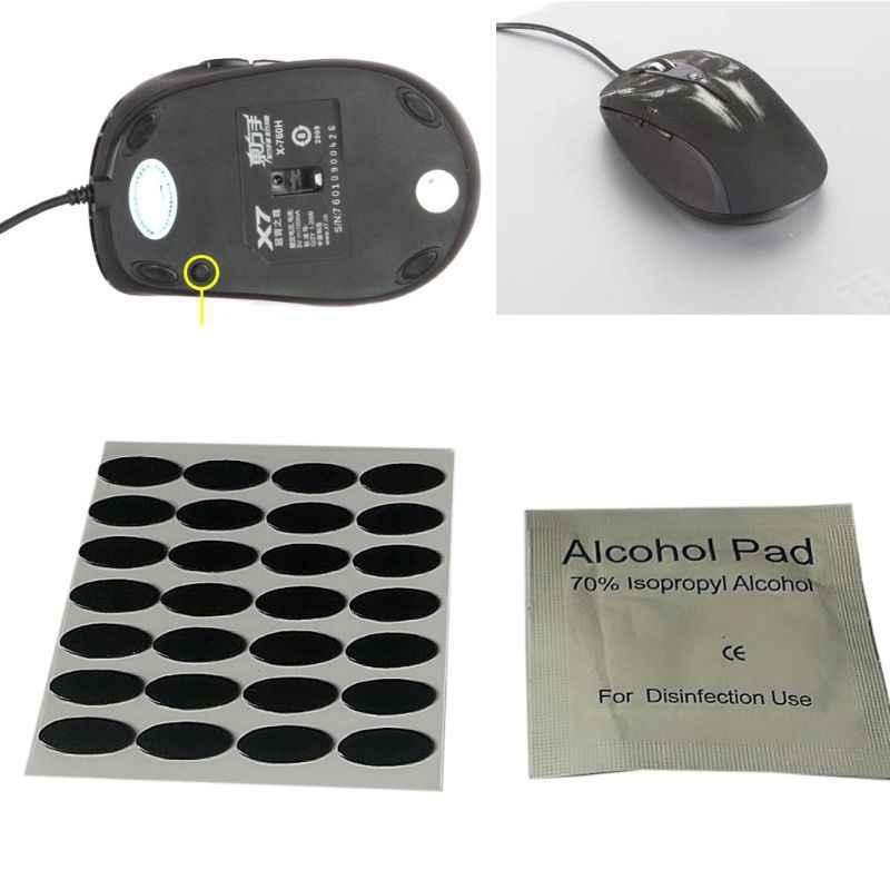 28 Uds., 0,6mm, 11,6x4,8mm, DIY, pies de ratón, patines para A4tech X7 X-760 Mouse