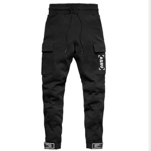 2019 Autumn Winter Side Pocket Men Joggers Casual Men Sweatpants Joggers Trousers Sporting Clothing Bodybuilding Pants(China)
