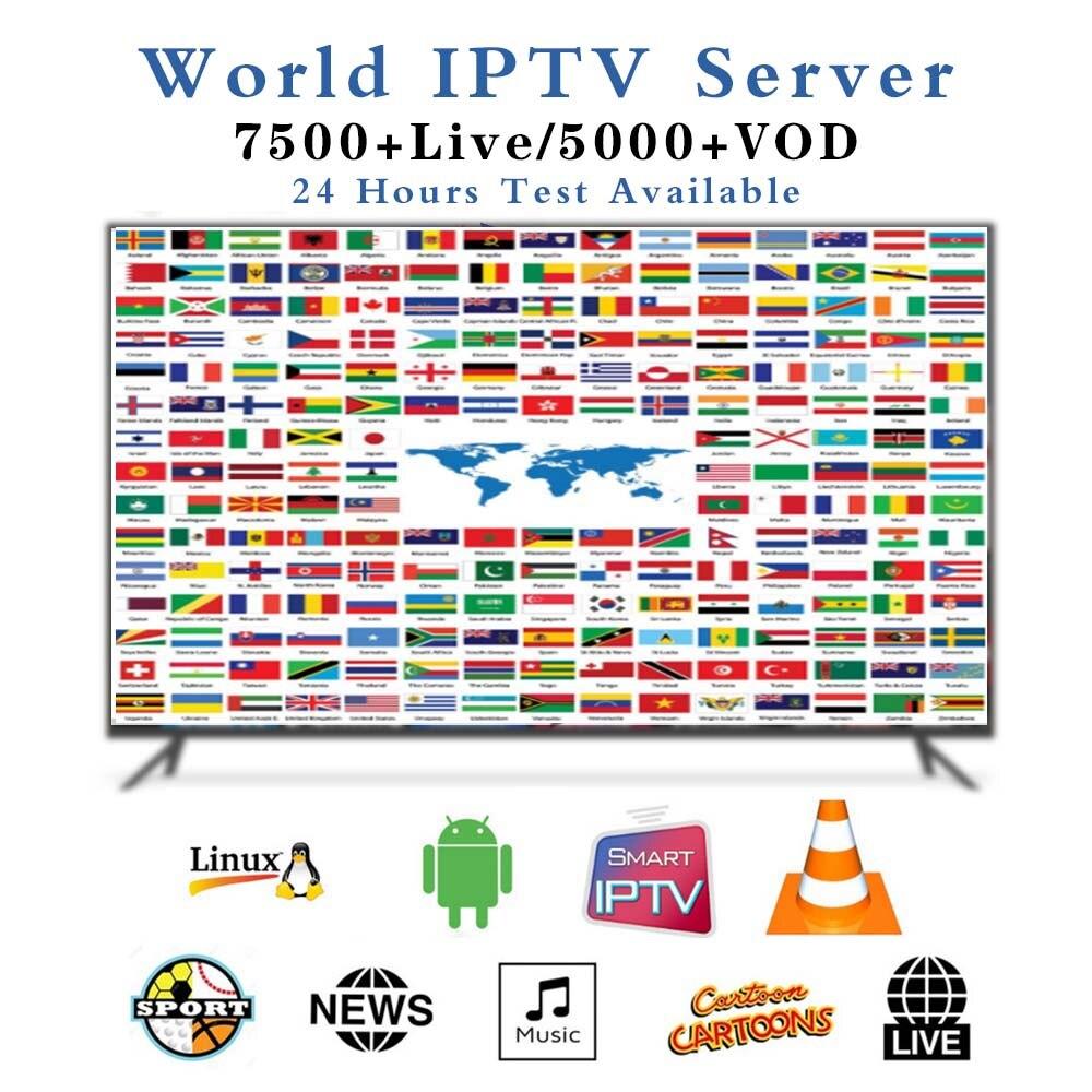 1 jahr Europa UNS UK Brasilien Polen spanien Europa IPTV abonnement 7000 + Live HD IPTV M3u Enigma2 vod Sport erwachsene Freies test