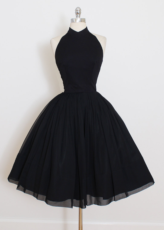 Cute Black Short Prom Dress, Black Homecoming Dress Multi-color Can Be Customized