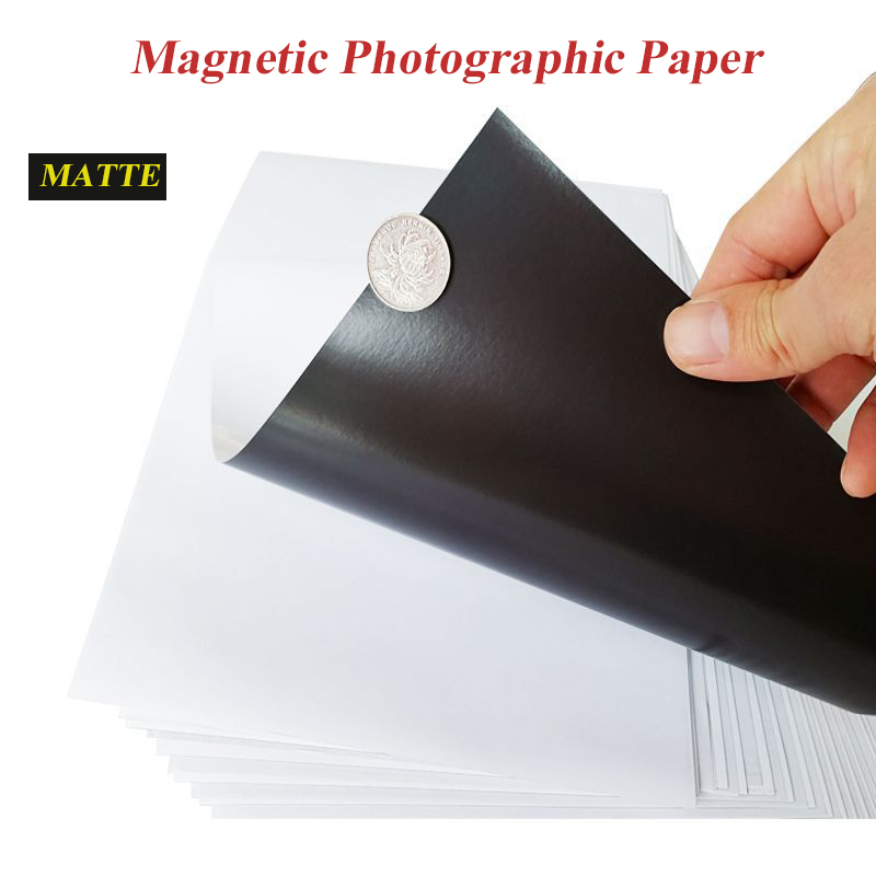 Magnetic Paste Inkjet Printing Photo Paper Magnetic Photographic Paper A4 4R Matte Stickers Diy Fridge Magnet