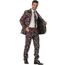Мода Crazy косплей костюм на Хэллоуин костюмы Рождественская вечеринка куртка одежда для мужчин сердце блейзер для взрослых мужчин