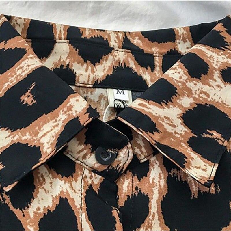 Купить женские рубашки с леопардовым принтом новинка осенне зимние