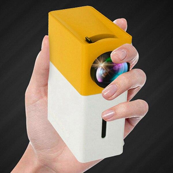 Projetor mini projetor portátil teatro escritório em casa hd 1080 p amarelo sp99