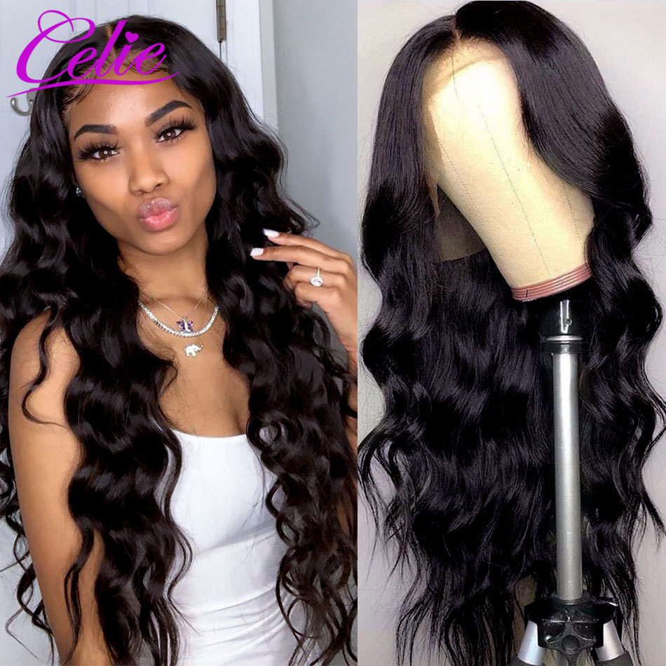 Celiehair Body Wave Lace Front Wig HD Lace Frontal Wig 4x4 Closure Wig 13x6 Body Wave Transparent Lace Wigs For Women Human Hair