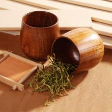 Деревянная чашка для ююбе, ручная работа, натуральная ель, деревянная чашка для завтрака, пива, молока, напитков, зеленый чай, чашка, бутылка для воды