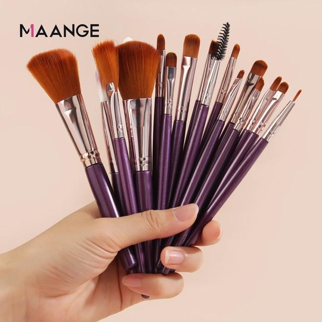 MAANGE 6/15/18/20Pcs Makeup Brushes Tool Set Cosmetic Powder Eye Shadow Foundation Blush Blending Beauty Make Up Brush Maquiagem 2