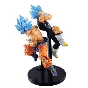 25 CM Dragon Ball Super Movie Broly TAG Fighters Goku Vegeta SSJ Blue Hair Figure Brinquedos PVC action figure Toys kid gift