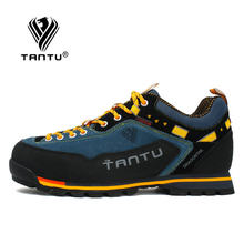 TANTU 2021 Waterproof Hiking Shoes Mountain Climbing Shoes Outdoor Hiking Boots Trekking Sport Sneakers Men Hunting Trekking