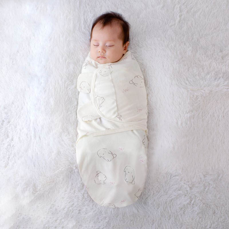 Newborn Baby Sleeping Bag Babies Envelope Swaddle Wrap Cocoon 100% Cotton 0-6 Months Infant Sleepsack