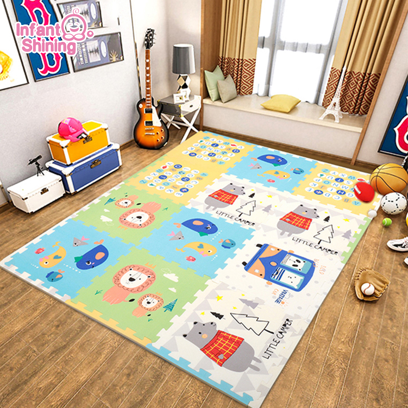 Playmat 2cm Baby Crawling Mat Thicken Baby Climbing Pad Living Room Household Foldable Easy Storage Children's Foam Blanket Mat