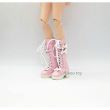 60cm joint doll boots shoes can be replaced with leather shoes riding boots 1/3