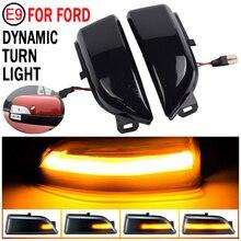 2pcs For Ford Ranger T6 2012 2019 Raptor Wildtrak LED Dynamic Turn Signal Blinker Sequential Side Mirror Indicator Light