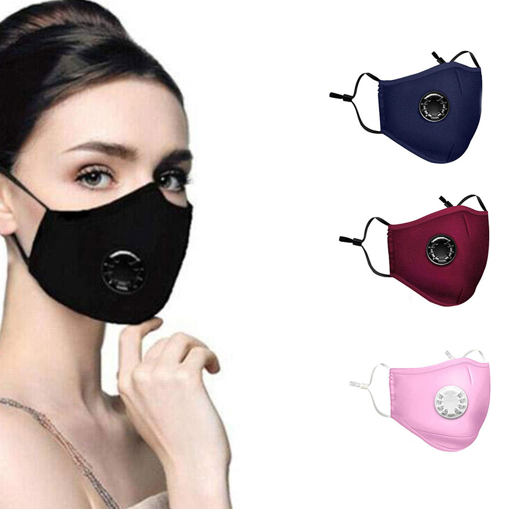 Reusable Sponge Face Mask PM2.5 Dust Mask Anti-dust Anti-haze Windproof Mouth Nose Protection With Filter Inserts