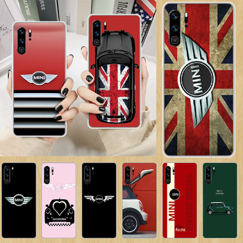 Car mini cooper logo Phone Case hull For HUAWEI p 8 9 10 20 30 40 smart Lite 2017 19 Pro Z transparent waterproof trend shell image