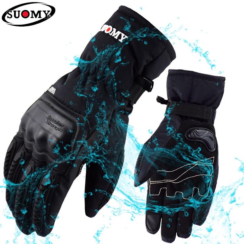 Suomie Moto gants Moto hiver coquille dure Guantes Moto gants étanche coupe-vent écran tactile femmes snowboard ATV