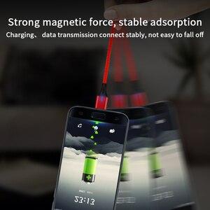Image 4 - SUNPHG 携帯電話 3A 磁気ケーブル充電器 2m マイクロ USB 高速充電タイプ C データケーブル iphone 雷 xs xr サムスン S9