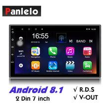 Panlelo S2 2 Din Android Head Unit Car Multimedia Player GPS Navigation Auto Radio (AM/FM/RDS) Mirror Link Bluetooth SWC Music
